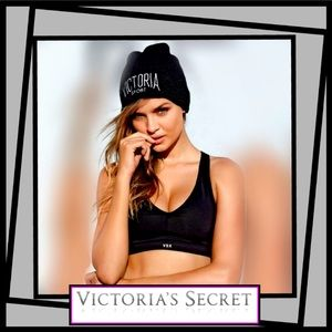 * Trendy Pink Victoria's Secret Beanie Sport hat